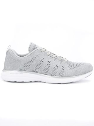 Apl perforated lace-up sneakers (grijs)