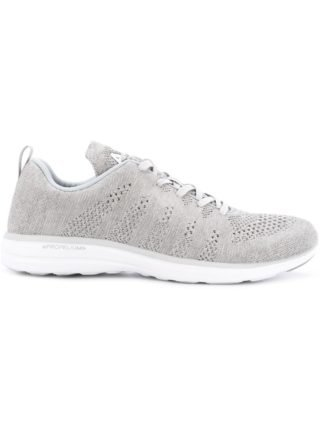 Apl perforated lace-up sneakers (zwart)