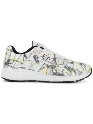 Ea7 Emporio Armani printed lace-up sneakers (wit)