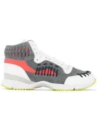 Kolor woven details hi-top sneakers (wit)