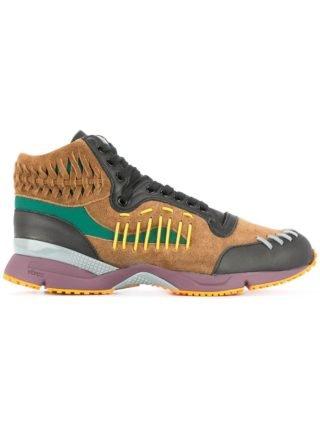 Kolor woven details hi-top sneakers (multicolor)