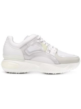 Fendi contrast low-top sneakers (wit)