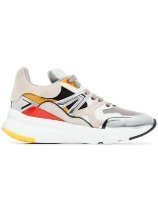 Alexander McQueen multicoloured Patchwork Runner leather sneakers - White