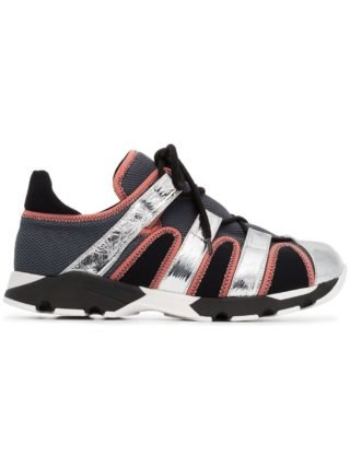 Marni metallic neoprene leather sneakers (zilver)
