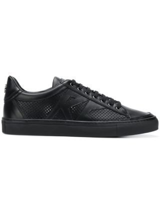 Roberto Cavalli perforated low-top sneakers (zwart)