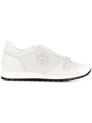 Roberto Cavalli perforated runner sneakers (wit)