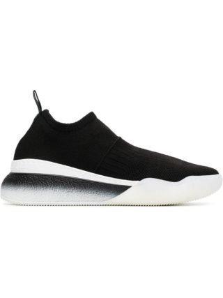 Stella McCartney black and white Loop sock sneakers (zwart)