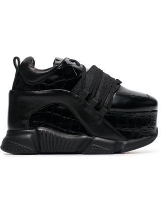Marques'almeida 80 Platform Leather Sneakers (zwart)