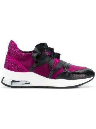 Liu Jo ribbon lace-up sneakers (roze/paars)