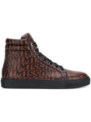 Missoni printed hi-top sneakers (zwart)