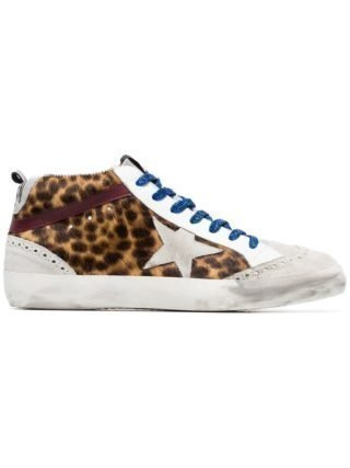 Golden Goose Deluxe Brand multicoloured Mid Star leopard print leather ponyskin sneakers - Unavailable