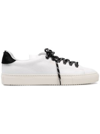 Paolo Pecora contrast laces sneakers (wit)