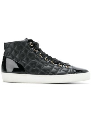 Hogl quilted hi-top sneakers (zwart)