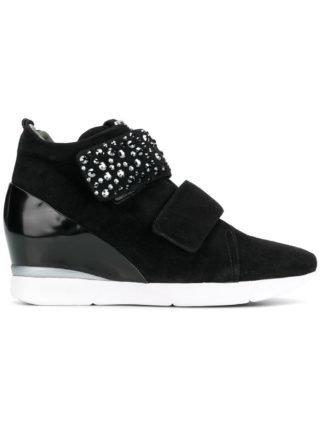 Hogl embellished wedged sneakers (zwart)