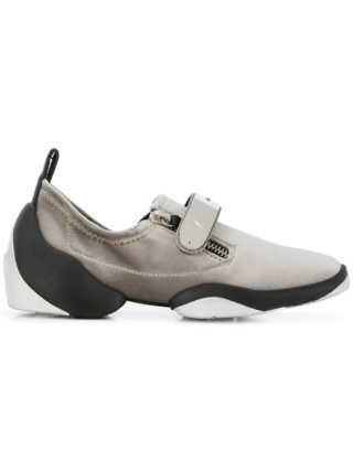 Giuseppe Zanotti Design metallic touch-strap sneakers (zilver)