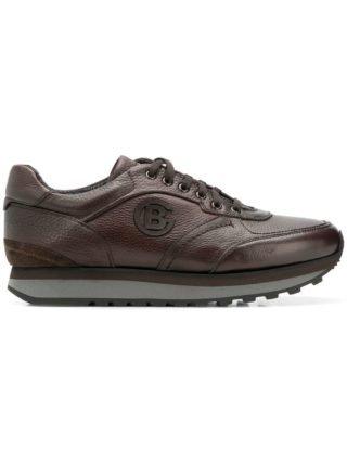 Baldinini embossed logo sneakers (bruin)