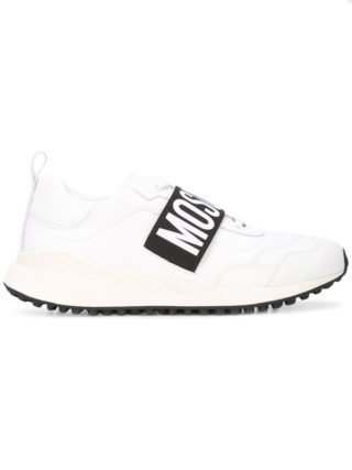 Moschino logo strap sneakers (wit)