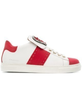 Twin-Set embellished heart sneakers (wit)
