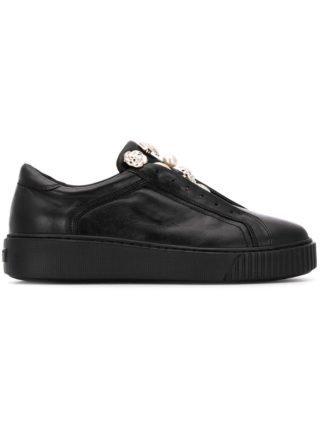Tosca Blu button embellished sneakers (zwart)