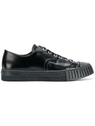 Adieu Paris varnished lace-up sneakers (zwart)