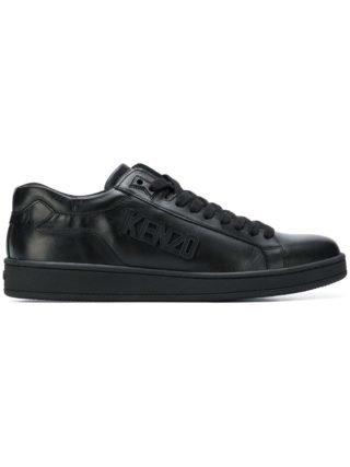 Kenzo low top logo sneakers (zwart)