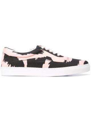 Versus printed lace-up sneakers (zwart)