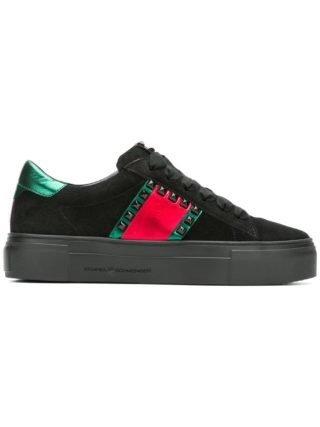 Kennel&Schmenger metallic detail sneakers (zwart)