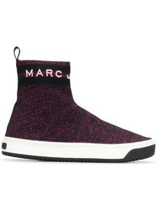 Marc Jacobs logo Dart sock sneakers (roze/paars)