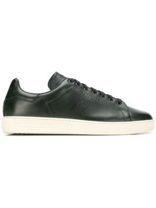 Tom Ford perforated lace-up sneakers (groen)