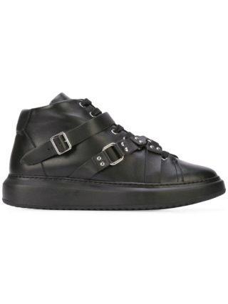 Moschino harness strap hi-top sneakers (zwart)