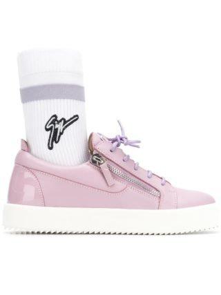 Giuseppe Zanotti Design logo sock sneakers (roze/paars)