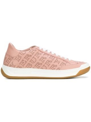 Burberry brand print low-top sneakers (roze/paars)