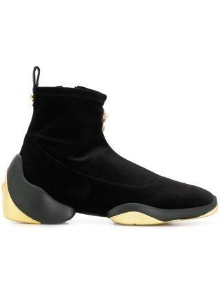 Giuseppe Zanotti Design Giuseppe Zanotti Design RW80004001 noir/or Furs & Skins->Calf Leather (zwart)