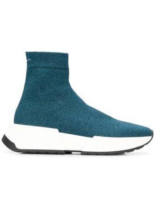 Mm6 Maison Margiela glittered sock sneakers (blauw)