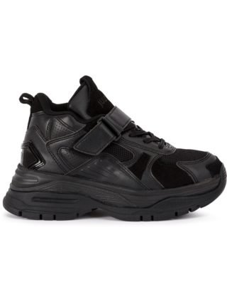 Juun.J JUUN.J JC89K1F025 BLACK rubber/Polyester/Leather (zwart)
