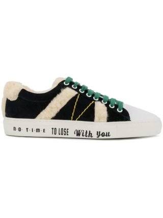 Mira Mikati lace-up fluzzy sneakers (wit)