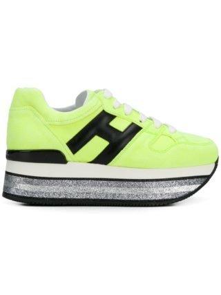 Hogan Maxi H222 platform sneakers - Yellow & Orange
