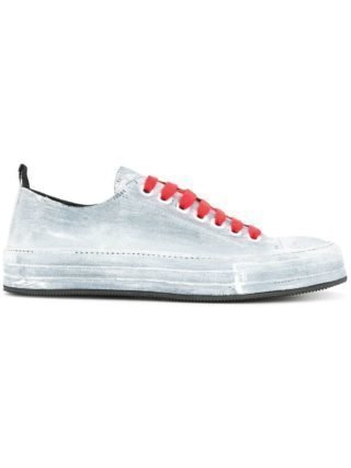 Ann Demeulemeester painted low-top sneakers (blauw)