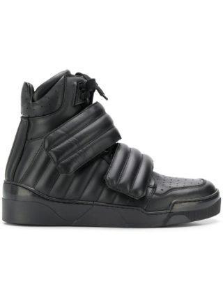 Les Hommes padded high-top sneakers (zwart)