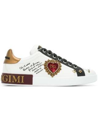 Dolce & Gabbana appliquéd sneakers (wit)