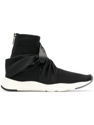 Balmain knotted ankle sneakers (zwart)