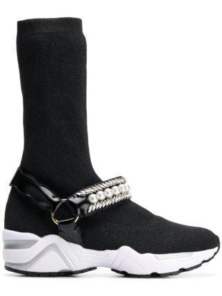 Suecomma Bonnie JEWELED SOCKS SNEAKERS (zwart)