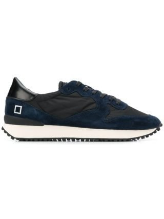 D.A.T.E. lace-up panelled sneakers (zwart)