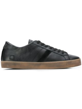 D.A.T.E. lace-up sneakers (zwart)
