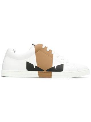 Fendi Bag Bugs colour block sneakers (wit)