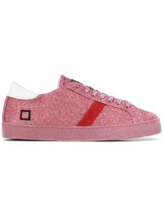 D.A.T.E. lace-up glitter sneakers (roze/paars)