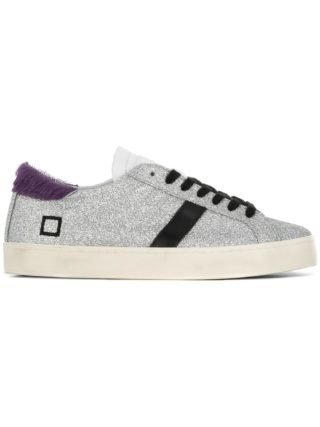 D.A.T.E. lace-up glitter sneakers (zilver)