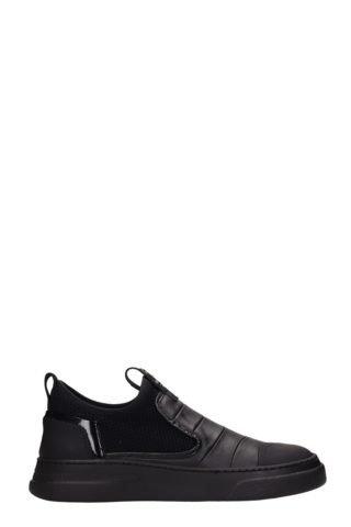 Bruno Bordese Bruno Bordese Byke Slip On Black Leather Sneakers (zwart)