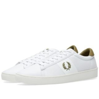 Fred Perry Spencer Mesh Leather Sneaker (White)