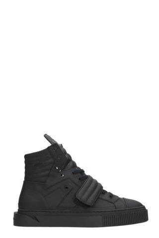 Gienchi Gienchi Hypnos Black Rubber Sneakers (zwart)
